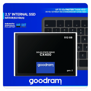 Dysk SSD - goodram 512GB - CX400