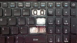 (1) Uzupełnienie brakujących klawiszy